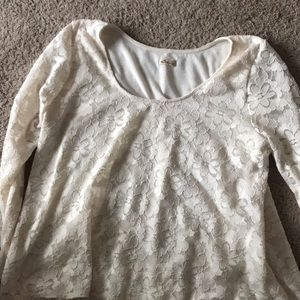 Tops - Lace white long sleeve